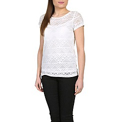 Alice & You - White lace layer tee