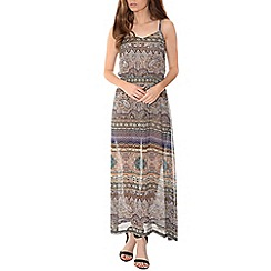 Alice & You - Brown chiffon cami printed maxi