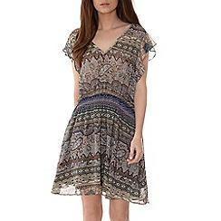 Alice & You - Brown printed chiffon dress