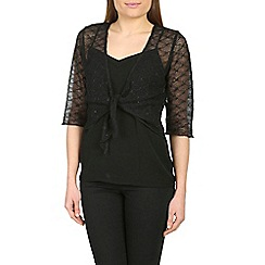 Amaya - Black sheer shrug