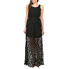 Amaya - Black maxi dress with lace detail
