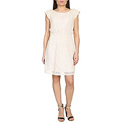 Pussycat London - Off white lace dress with elasticated waist