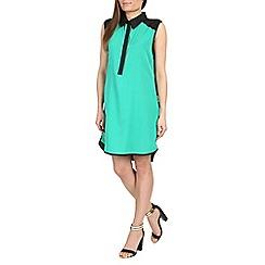 Ayarisa - Green contrast shirt dress