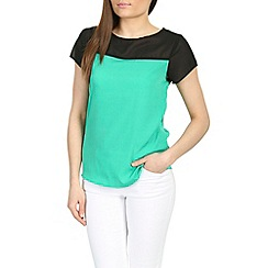 Ayarisa - Green mairead sheer panel top