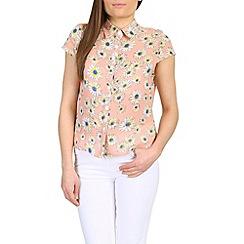 Cutie - Pink floral loose fit top