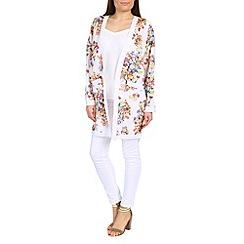 Cutie - White floral print kimono