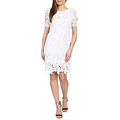 Cutie - White large floral lace dress