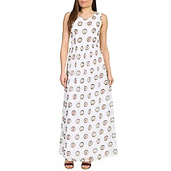 Cutie - Cream open back print maxi