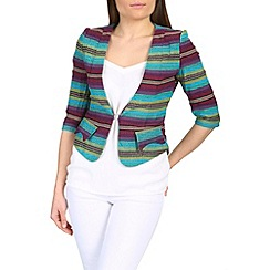 Cutie - Green tribal print fitted blazer