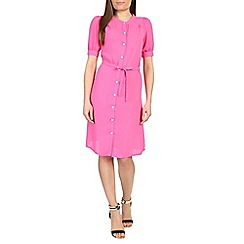 Cutie - Pink puff sleeve shirt dress