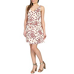 Cutie - Cream ditsy daisy print dress