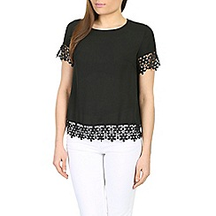 Alice & You - Black crochet hem top