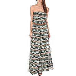 Alice & You - Green belted bandeau maxi dress