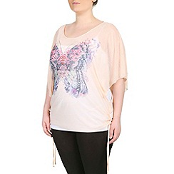 Samya - Light pink diamante butterfly top