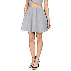Damned Delux - Grey bonded skater skirt