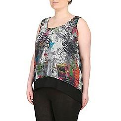 Samya - Grey multi coloured sleeveless top