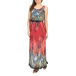 Amaya - Orange paisley print maxi dress