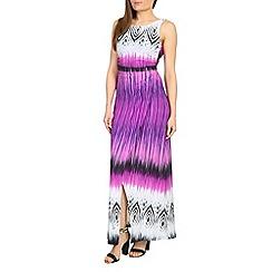 Amaya - Sleeveless tribal print maxi dress