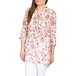 Amaya - Cream floral print shirt