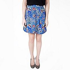 Wolf & Whistle - Multi blossom print skirt