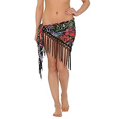 Alice & You - Black fringed sarong
