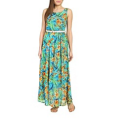 Alice & You - Turquoise belted maxi dress