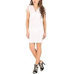 Izabel London - White neon open back lace dress