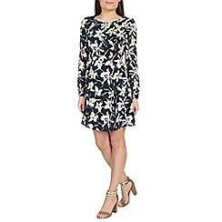 Izabel London - Dark blue floral print dress