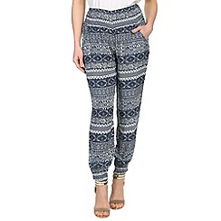 Izabel London - Multi-coloured viscose patterned harem style pants