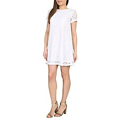 Izabel London - Cream polyester elastane short sleeve lace