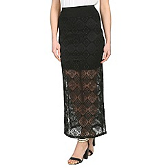 Mandi - Multi-coloured slim-fit maxi skirt