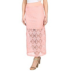 Mandi - Orange slim-fit maxi skirt