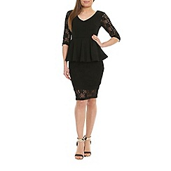 Alice & You - Black lace peplum dress