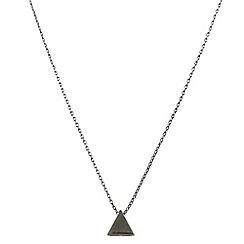 Ziba - Metallic layered triangle necklace