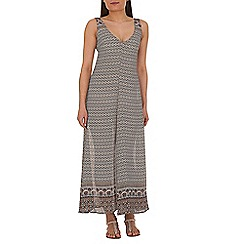 Alice & You - Brown v neck chiffon maxi dress
