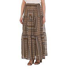 Alice & You - Brown printed maxi skirt