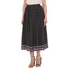 Alice & You - Navy printed midi skirt
