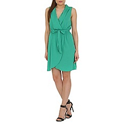 Ayarisa - Green lizzie fold wrap tie tea dress