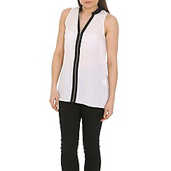 Ayarisa - Cream zip front tunic top