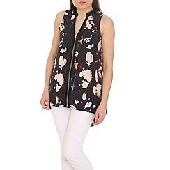 Ayarisa - Multicoloured zip front tunic top