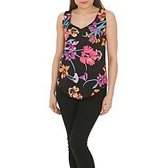 Ayarisa - Multicoloured curve hem v-neck and back shell top