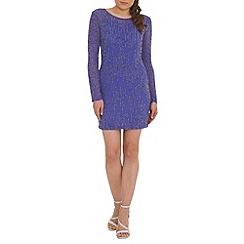 RubyRay - Purple embellished tunic dress
