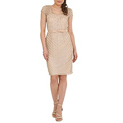 RubyRay - Beige beaded dress