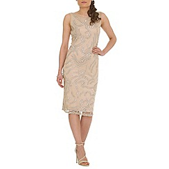RubyRay - Beige beaded midi dress