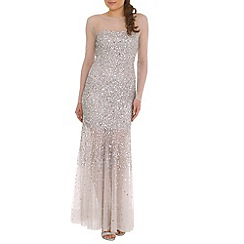 RubyRay - Silver long beaded dress