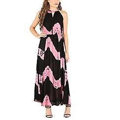 Izabel London - Pink halter neck tye-dye print dress
