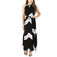 Izabel London - Black halter neck tye-dye print dress