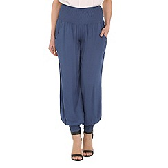 Izabel London - Blue wide leg plain pants