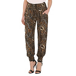 Izabel London - Brown paisley print pants