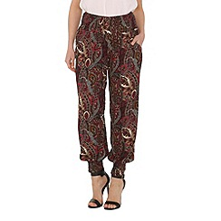 Izabel London - Pink paisley print pants